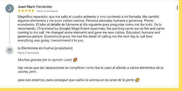 opiniones sobre tuelectricistaenhuelva.com